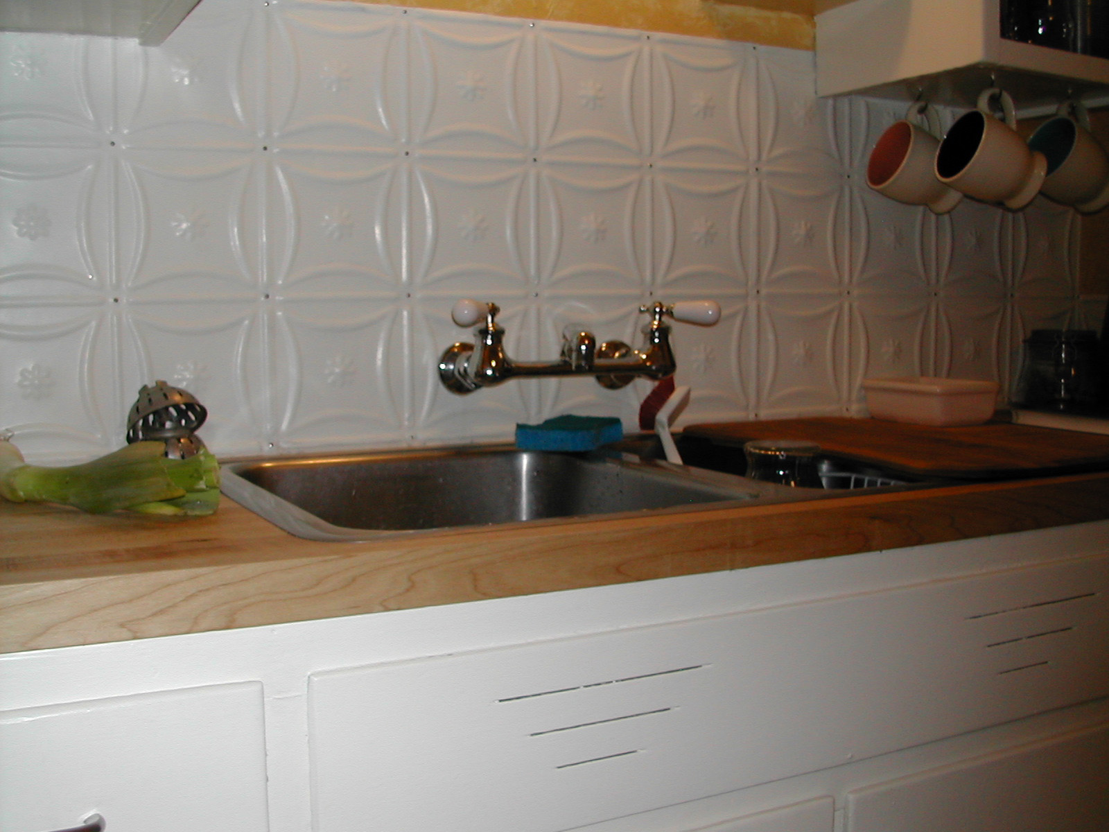 Fake Wood Countertops Photo Request Please Backsplash With Wood Countertops