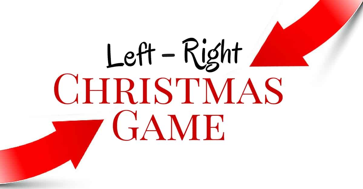 The Left-Right Christmas Game Pass It On!