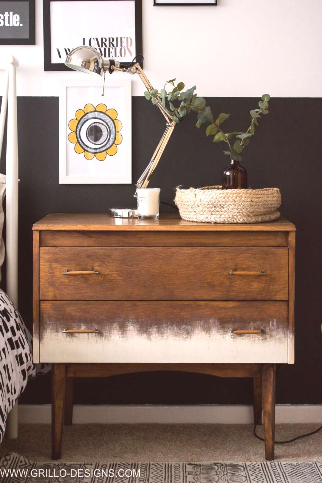 Painted Gradient Dresser Treatment By Grillo Designs Featured On Funky Junk Interiors