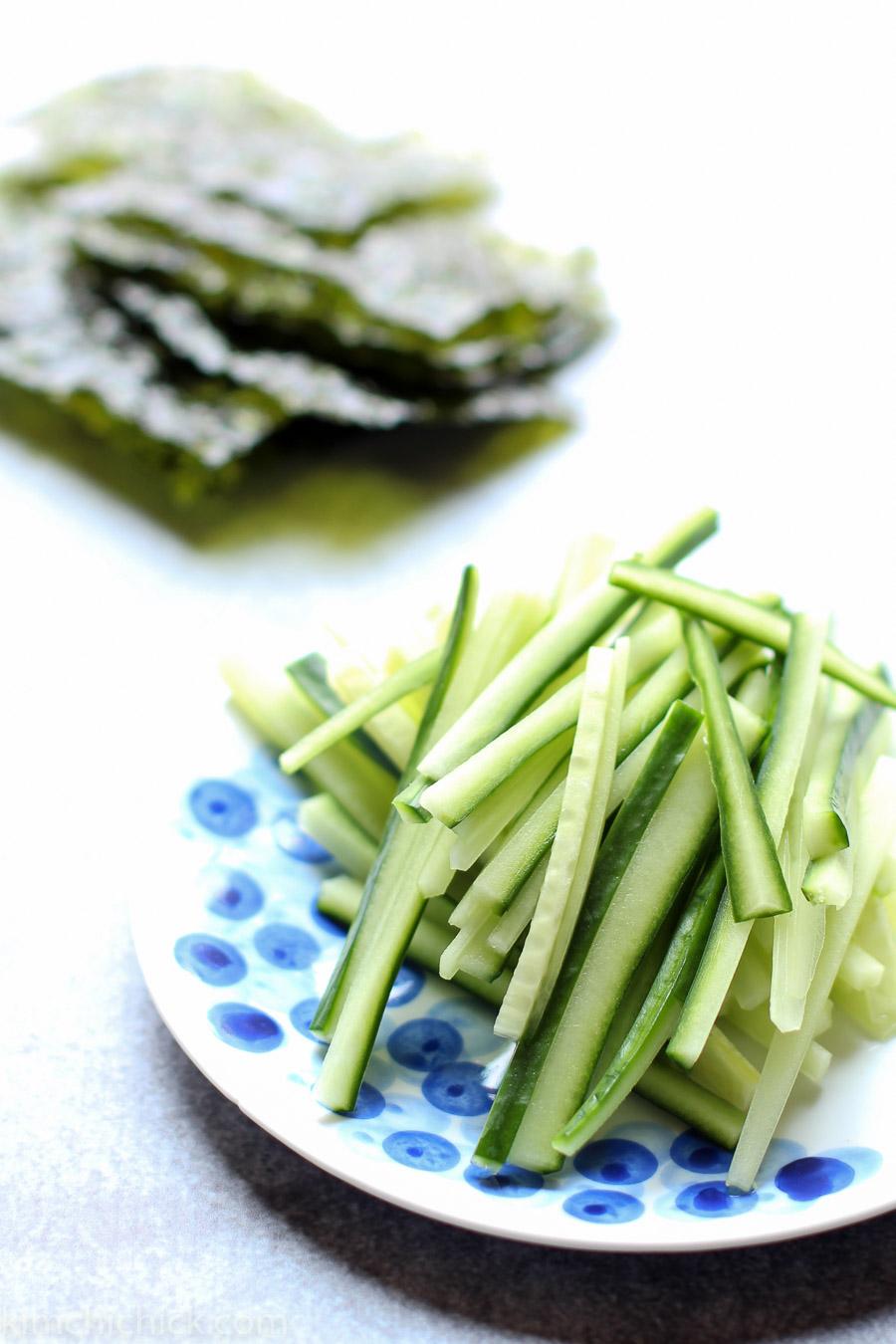 Super simple sesame soba noodles |www.kimchichick.com