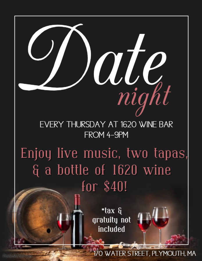 Date Night @ 1620 Wine Bar - 1620 Winery