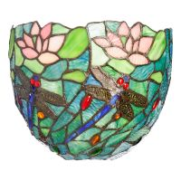 Tiffany-Style Esther Wireless Stained Glass Wall Sconce w ...