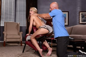 BRAZZERS Dirty Masseur Simone Sonay Massage Chair Muff Porn Gifs