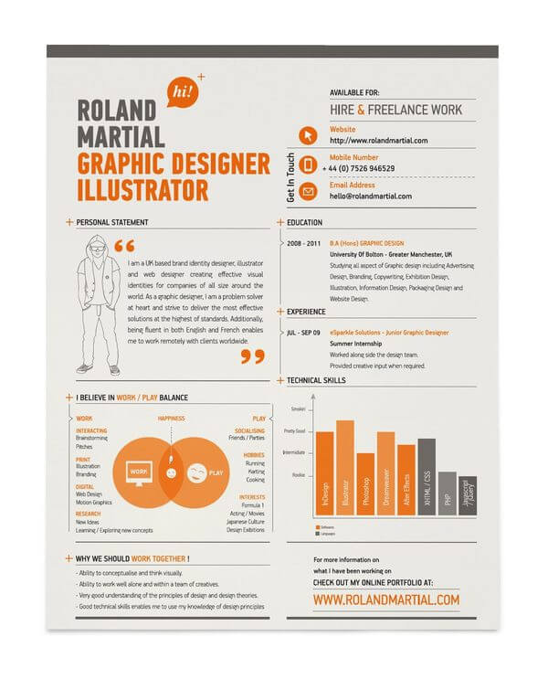 15 Amazing Infographic Resumes To Inspire You - amazing resumes