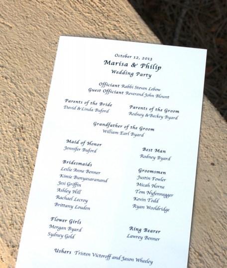 Congratulations Philip and Marisa!