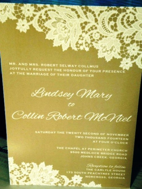 Congratulations to Collin and Lindsey!
