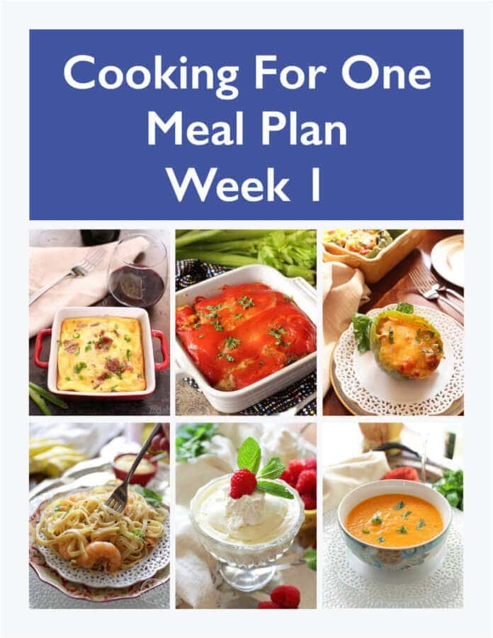 Meal Plan for One Weekly Meal Prep - Week 1 One Dish Kitchen