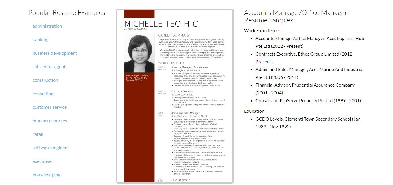 resume title for purchase manager