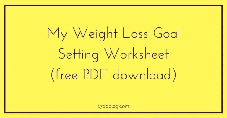 Weight Loss Worksheet