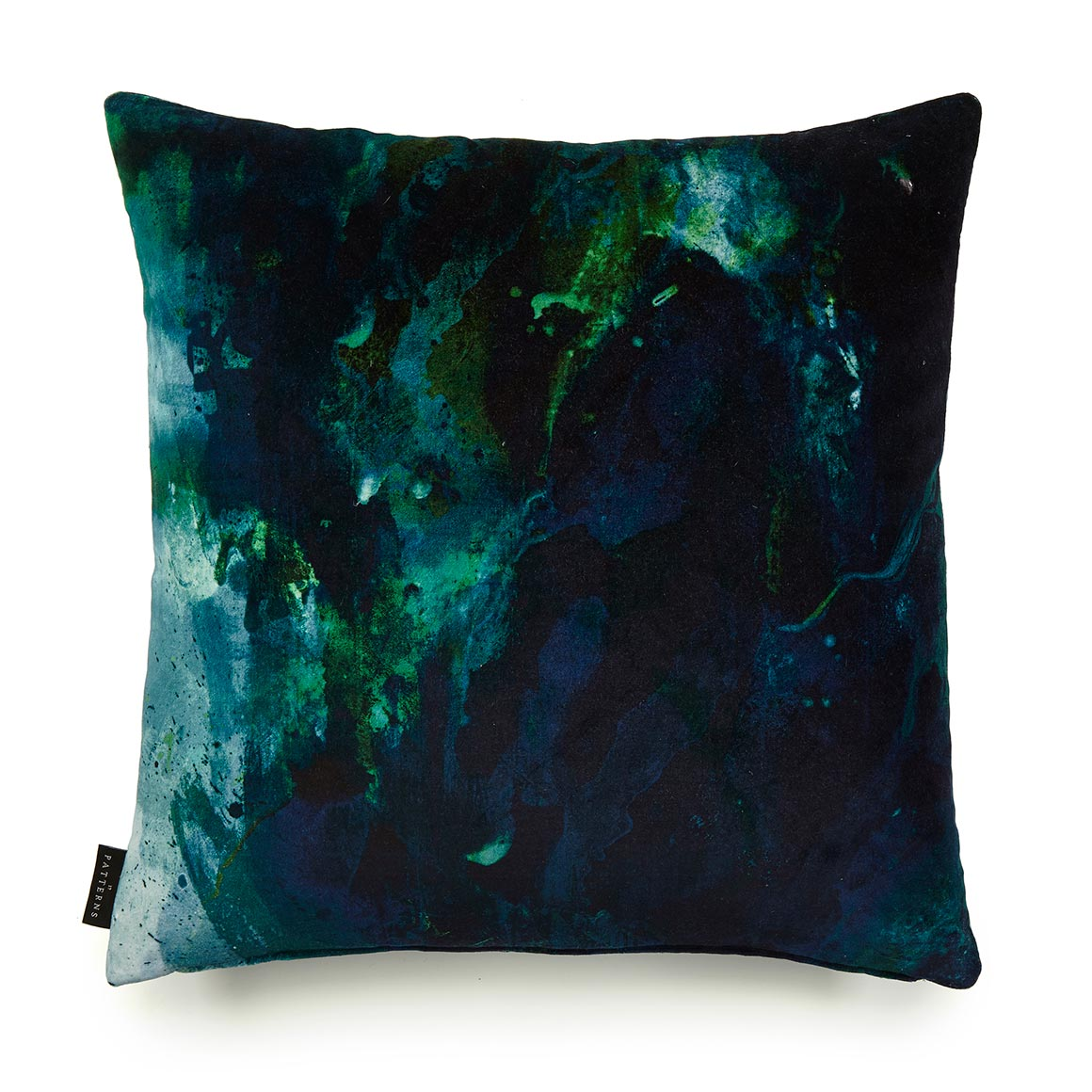 Blue Velvet Cushion Beyond Nebulous Green And Blue Cotton Velvet Cushion