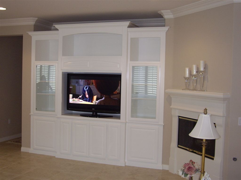 White Kitchen Cabinet Doors Refacing Custom Wall Units & Entertainment Centers | Cabinet