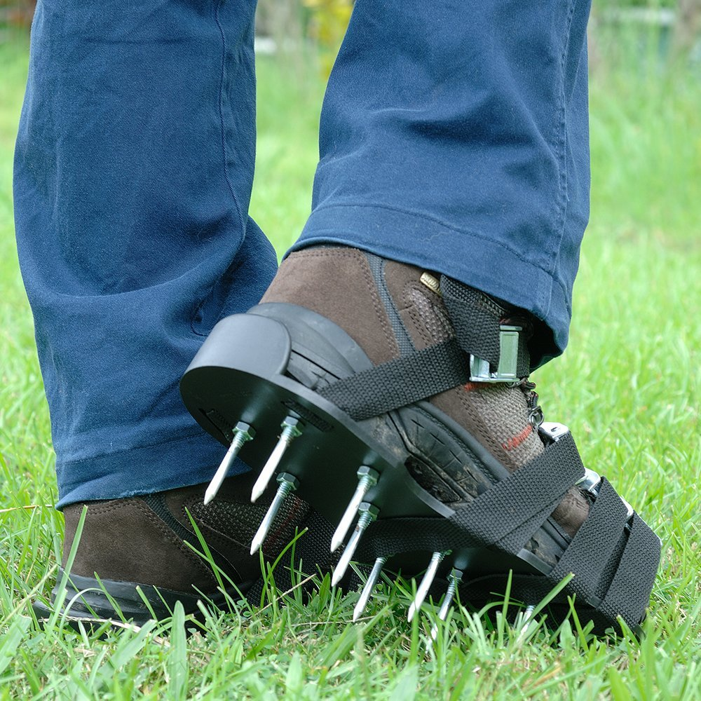 Grass Aerator Premium Nylon Heavy Duty Lawn Aerator Shoes