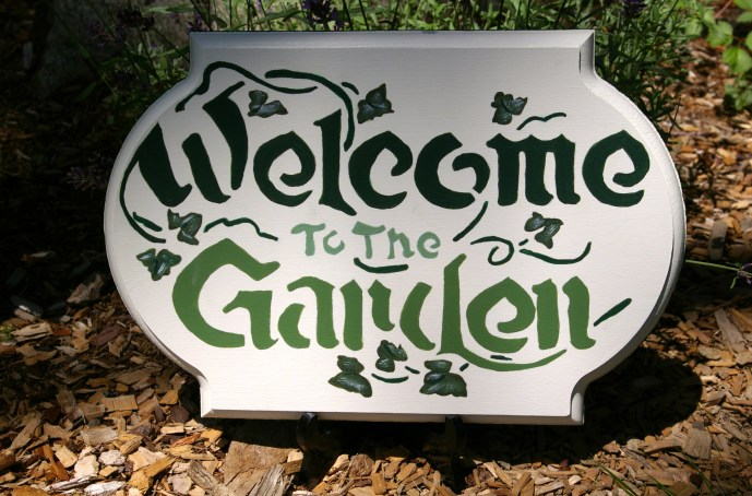 Welcome to the Garden Sign at 1840 Farm