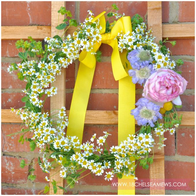 DIY wildflower wreath.1.www.18chelseamews.com