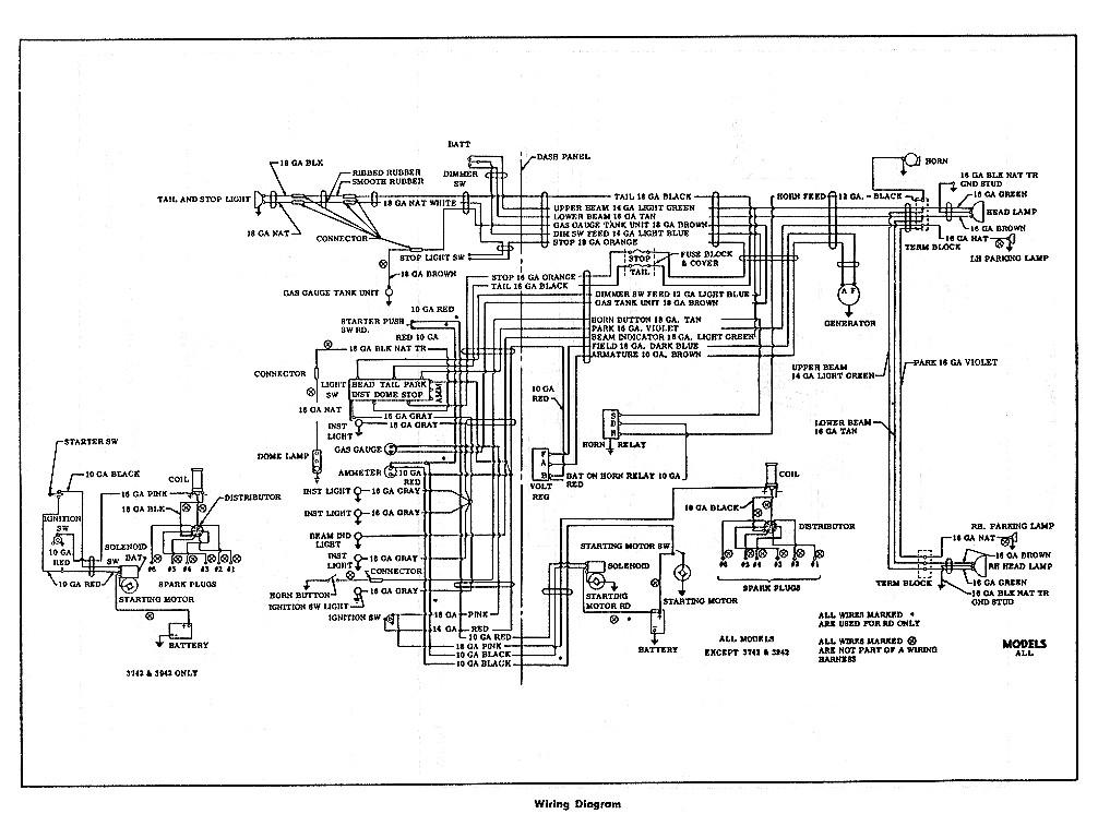 1953 chevy truck gauge wiring diagram