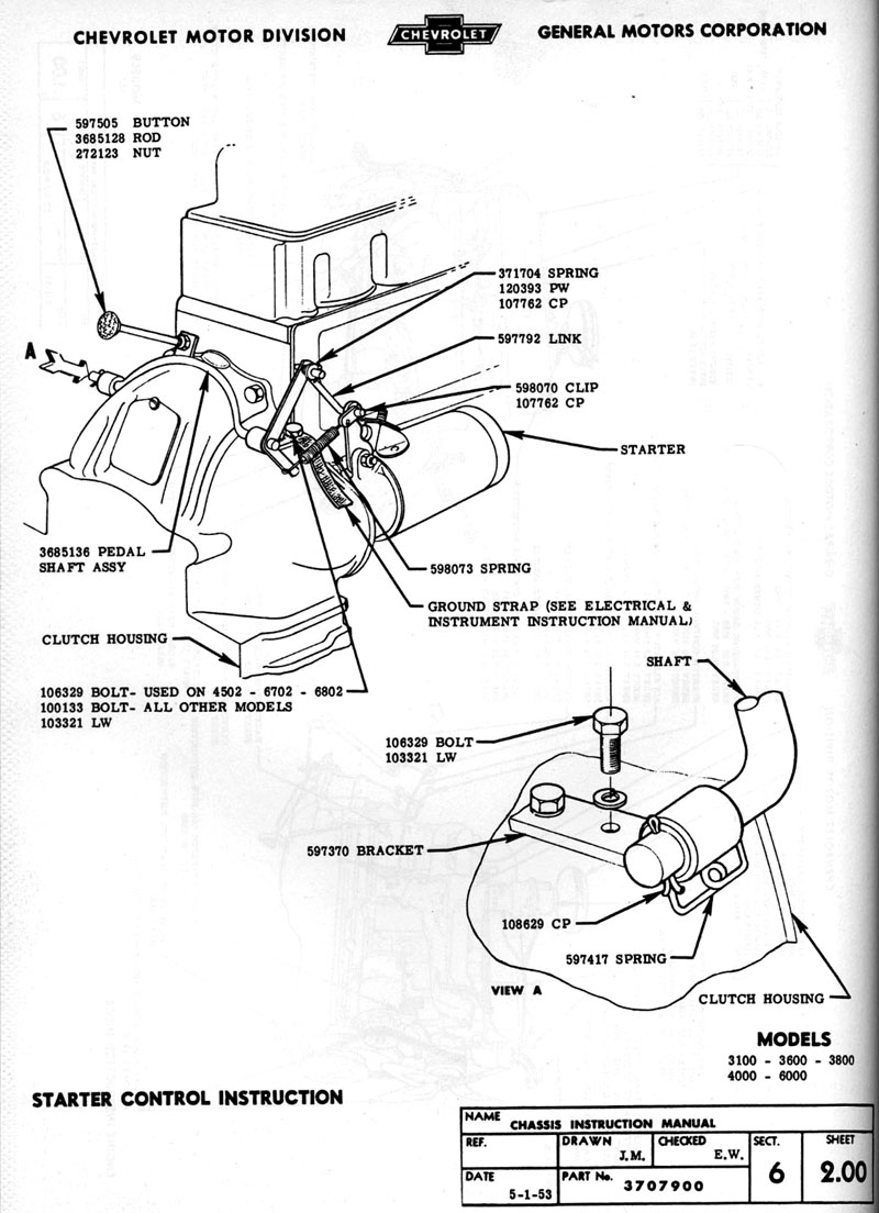 1954 chevy truck vacuum diagram