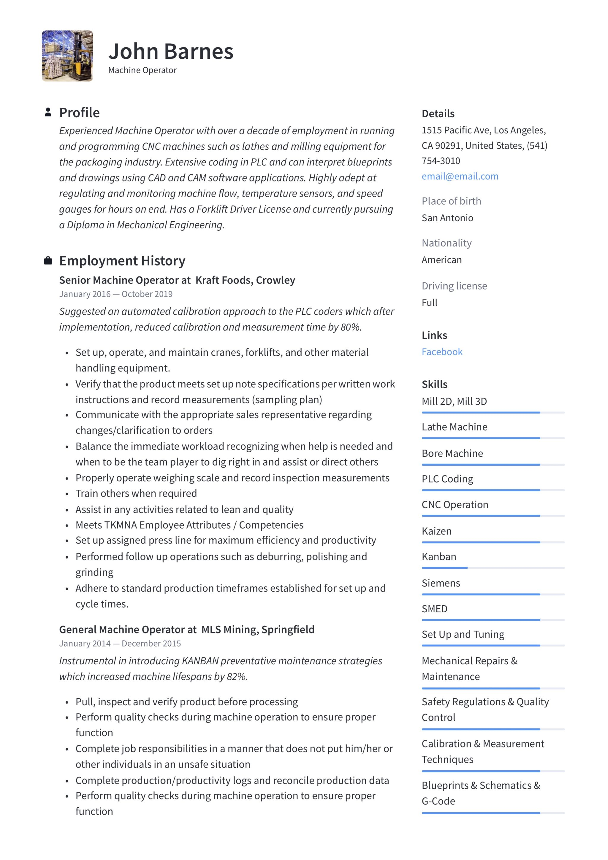 sample resume job summary for information technology