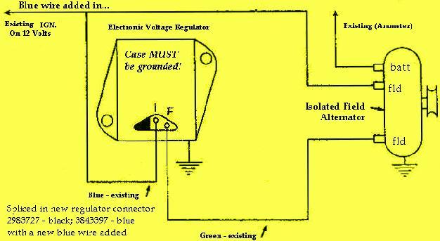 ford regulator wiring diagram 1965