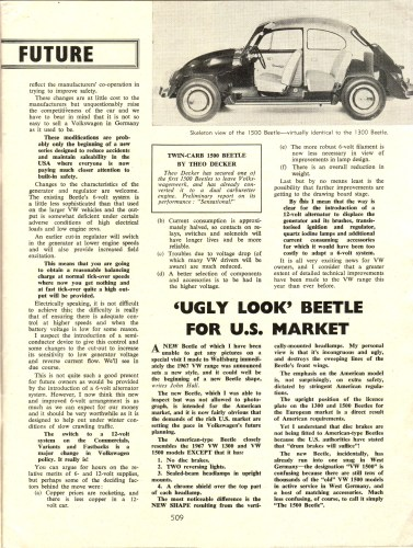 '67 Volkswagen Beetle — Safer Motoring