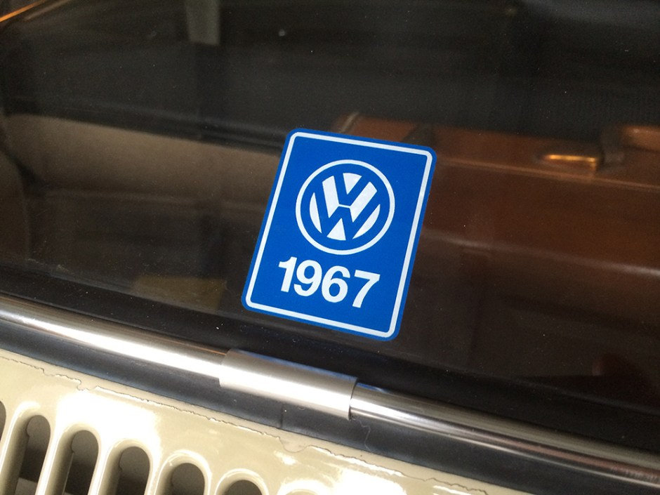 For Sale — NOS '67 Beetle YOM Window Display Decal