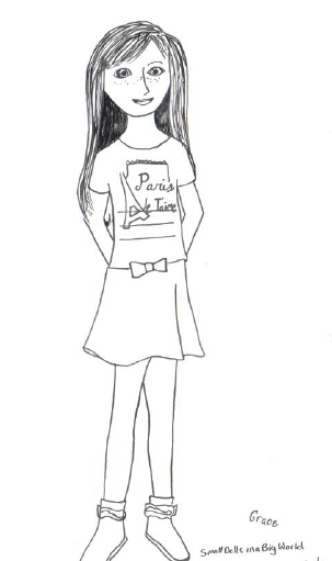 American Girl Grace Coloring Pages Small Dolls In A Big American Doll Coloring Pages Lea Printable