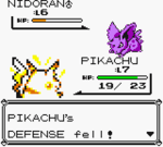 Pokemon Red Battle Screen