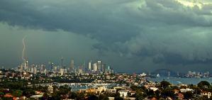 Summer storm over Sydney  Buy Now
