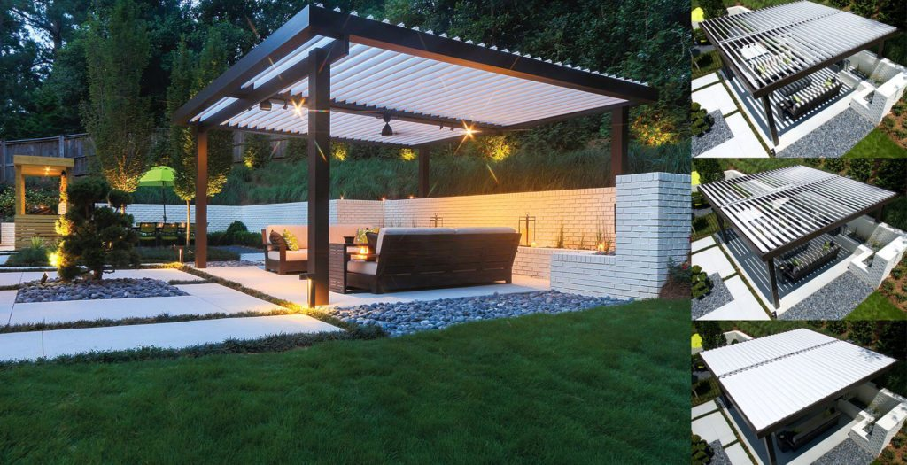Louvered Pergola Covers Shade And Shutter Systems Inc