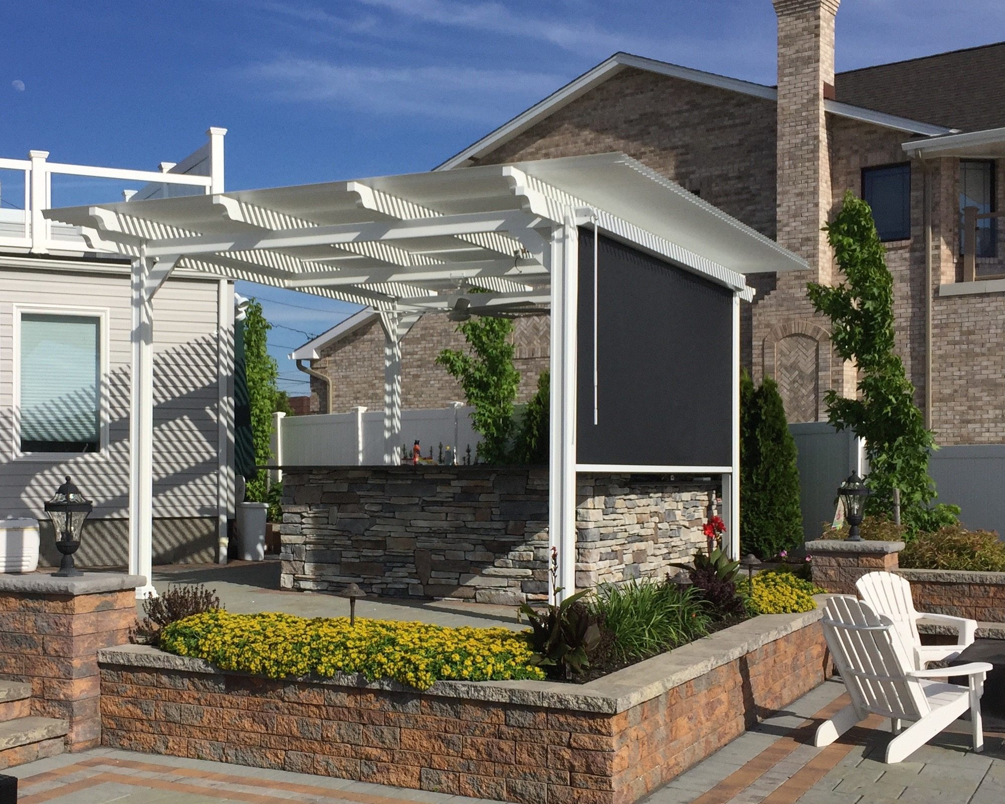 Cover Patio Pergola Louvered Pergola Covers Shade And Shutter Systems Inc New