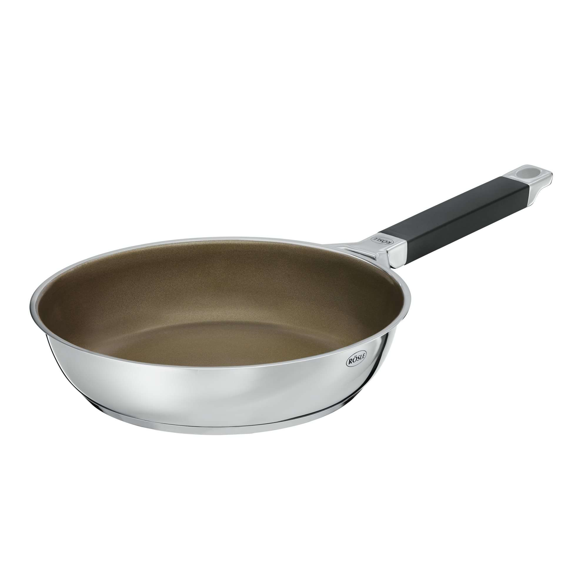 Rösle Küchensieb RÖsle Silence Series Frying Pan 24 Cm Stainless Steel With Non Stick Coating