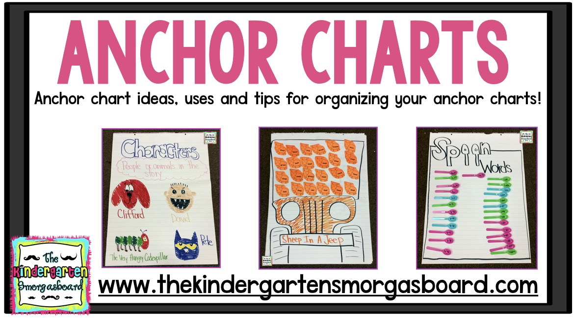 Anchor Charts! Ideas, Tips And Tricks! The Kindergarten Smorgasboard