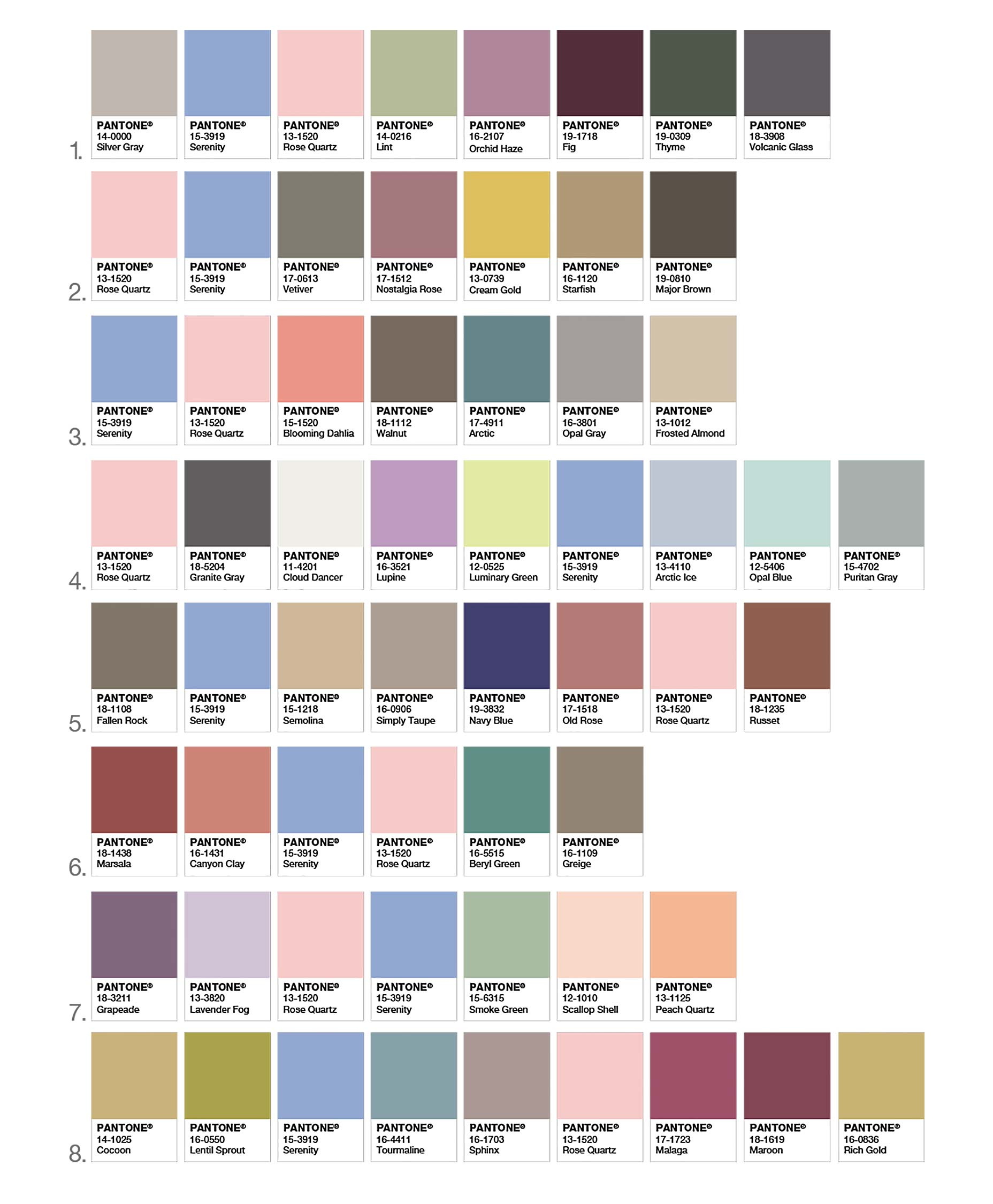 Pantone Color 2016 Pantone Color Of The Year 2016 Serenity Rose Quartz