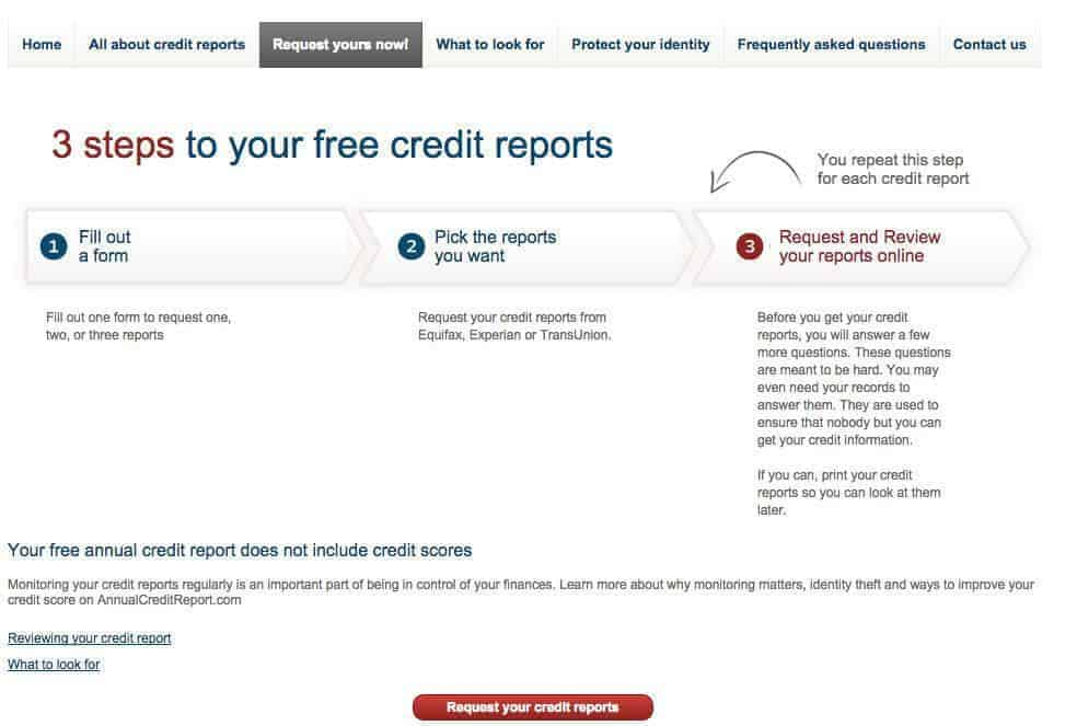 Guide to Getting Your Free Credit Report - annual credit report form