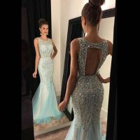 Open Back Beaded Prom Dress, Long 2016 Prom Dress, Sexy ...
