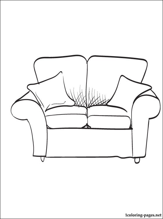Monster High Sessel Settee Coloring Page | Coloring Pages