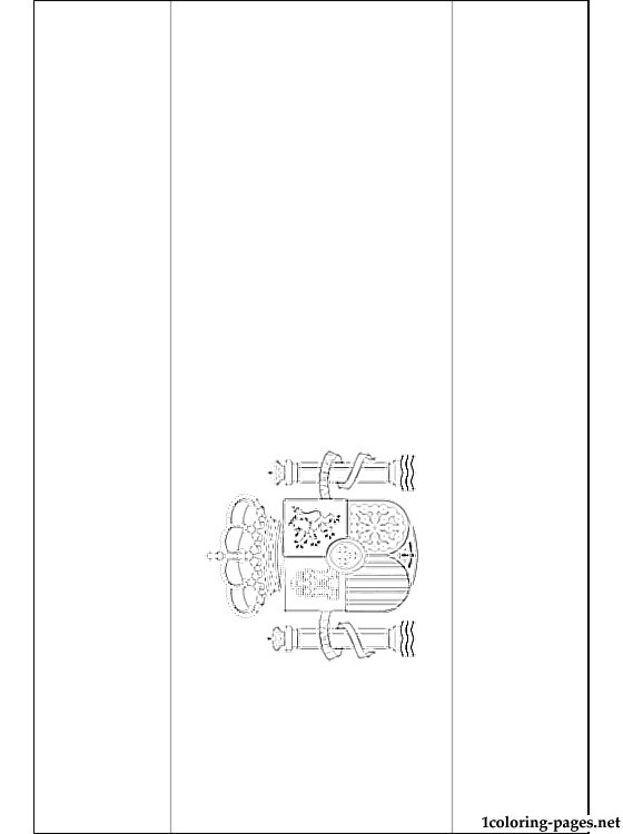 Spain flag coloring page Coloring pages