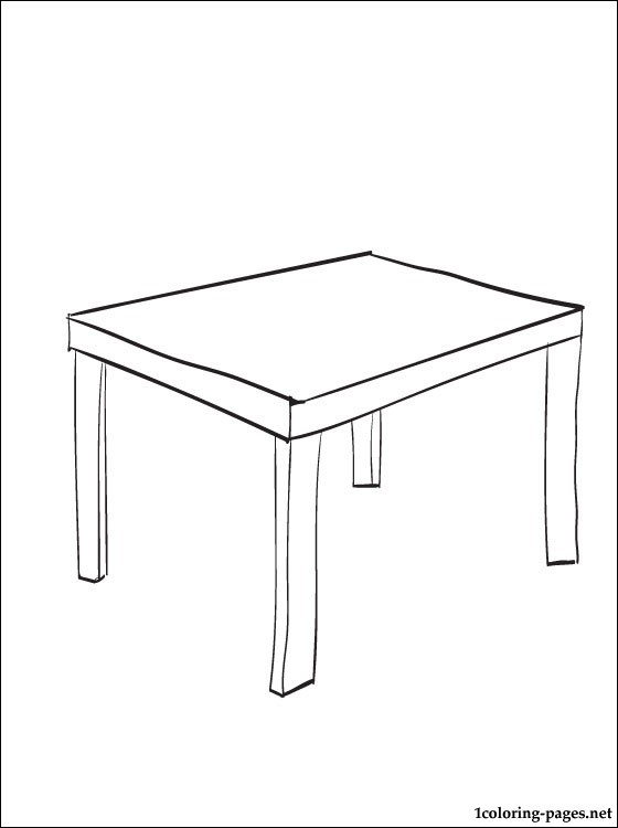 Tafel Kleurplaat Coloring Page Table | Coloring Pages
