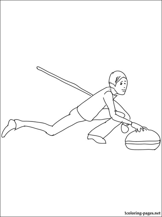 Curling coloring page Coloring pages - Culring Pajis