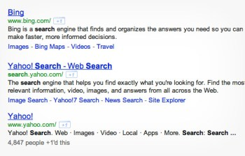 Search results.