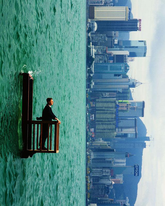 An upside down world… Photographer Philippe Ramette