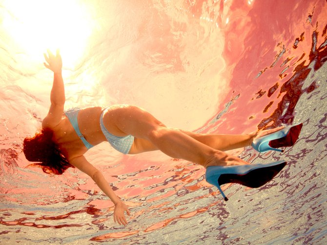 Swim-dancing with Jill Greenberg's latest series called Glass Ceiling