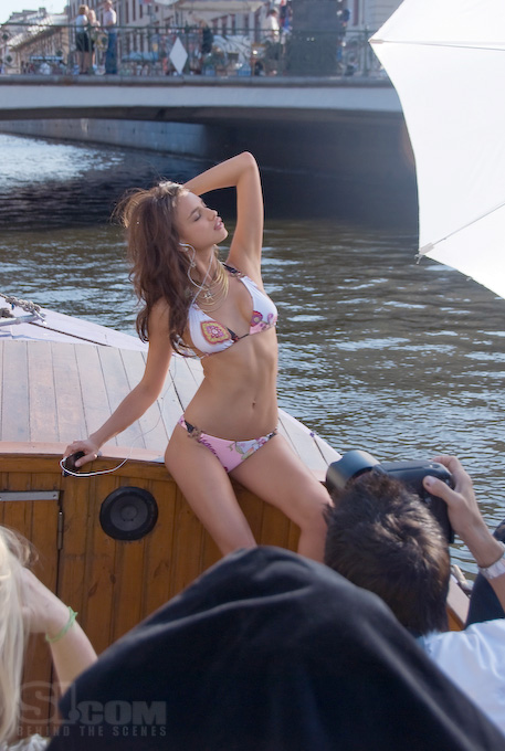 Russian model, Irina poses in St. Petersburg in Sports Illustrated's Swimsuit 2008 issue.