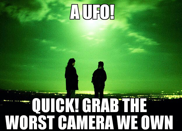 Every time someone 'Sees a UFO'