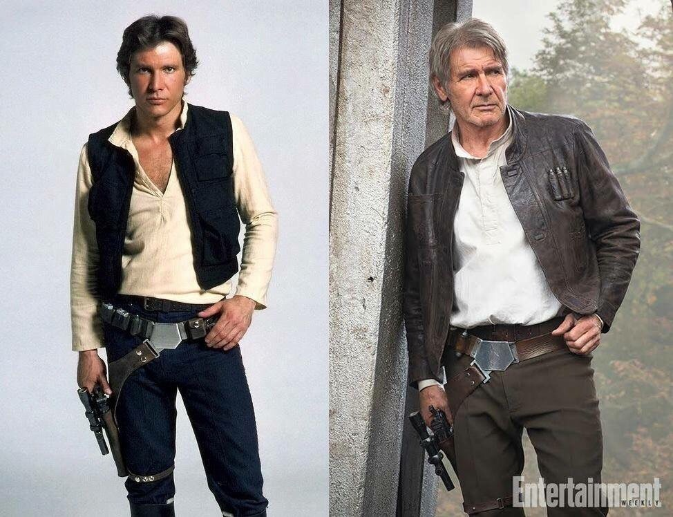 Han Solo. Then and Now.