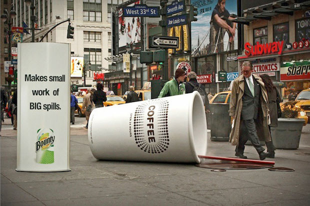 Interesting Ad for Bounty Paper Towels