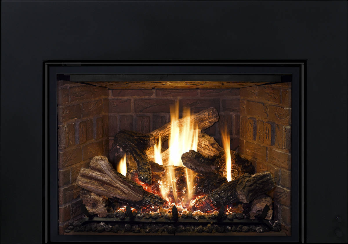 Standard Gas Fireplace Insert Dimensions Mendota Fv44i Basix Black Sutter Home And Hearth