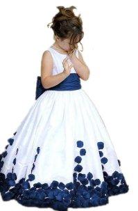 Rose Petals Flower Girl Dress Junior Bridesmaid Party ...