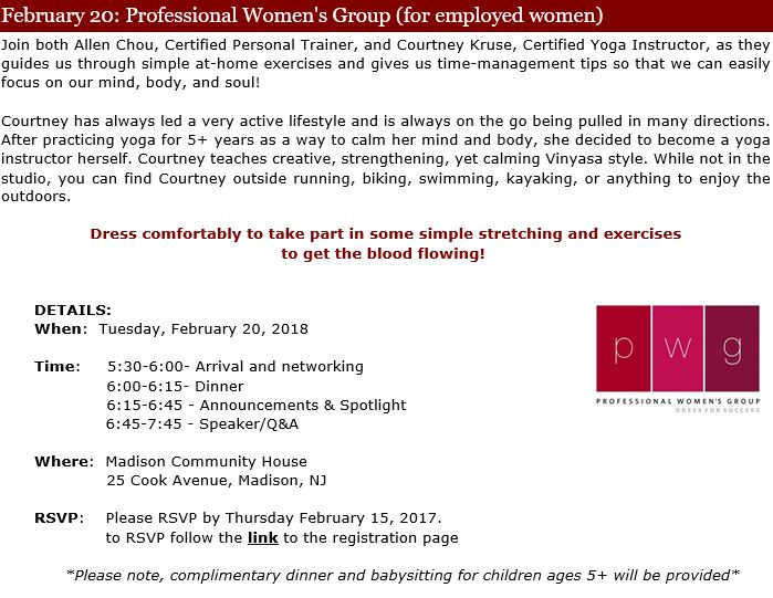 Professional Women\u0027s Group Dress for Success Northern New Jersey