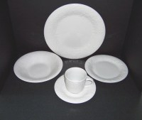 Triple A Resale Gibson White Embossed Fruit 10 Piece Set