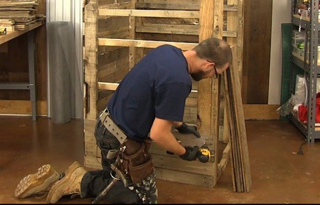 Add Paneling | Build A Homemade Pallet Smoker